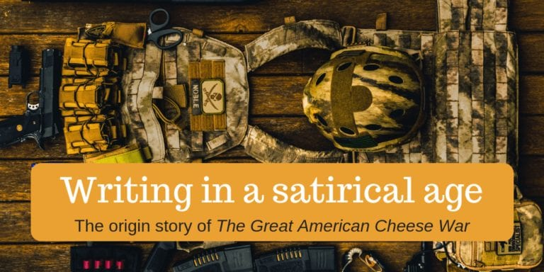Blog banner: writing in a satirical age